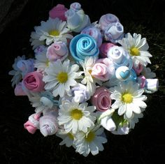 Baby Shower Bouquet by xperimentl, via Flickr