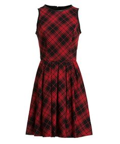 Red and Black Check Skater Dress   New Look £29.99 - there's a little bit of Hepburn to this!