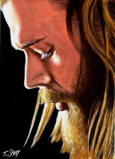 Opie Winston Sons of Anarchy Sketch Card by #TimShay