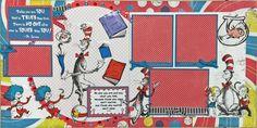 Cat in the Hat.  Layout Kit designed by Beatriz Guzman for Treasured Memories, Lafaytte, La