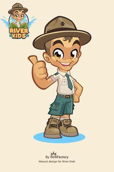 River Kids mascot design creation process #mascotlogo #mascotdesign #mascotcharacter Brand Character, Character Poses, Comic Character, Character Concept, Character Design, Cartoon Logo, Vector Logo Design, Mascot Design, Web Design Services