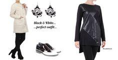 clothes black white leather jacket tshirt