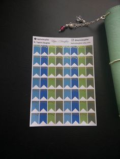 Real gold foil page flag stickers for Erin condren Mambi
