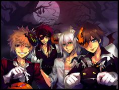 halloween town sora vampire roxas from link white wolf riku pirate lavi mean axel dammit people stop confusing me and a very unfortunate little - Roxas Halloween Town