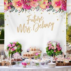Bridal Shower Backdrop, Bride To Be Banner, Bridal Shower Party Banner Bridal Shower Backdrop Wedding Backdrop Decor / Bridal Shower Backdrop, Bridal Shower Photos, Elegant Bridal Shower, Bridal Shower Party, Bridal Shower Decorations, Wedding Decorations, Bride To Be Banner, Bridal Party Tables, Summer Bridal Showers