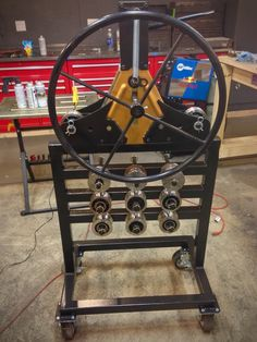 Pipe Roller Stand with Die Storage