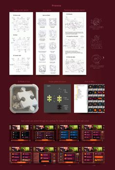 GUI and Character for Puzzle game Sketch Icon, Game Ui, Game Design, Jigsaw Puzzles, Character, Match 3, Behance, Tutorials, Illustration