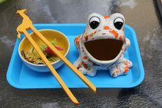 feed the frog activity. fine motor skills