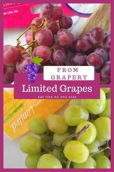 Learn what Grapery's Limited line of grapes are. Flavorful, sweet, crisp grapes in red, black, and green make up the Limited grapes. Grape Picking, Black Grapes, Gum Drops, Orange Bag, Whole Foods Market, Red Black, Whole Food Recipes, Crisp, Fruit