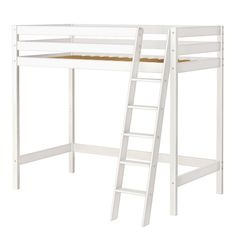 JACKPOT! High Roller High Loft Bed with Angle Ladder