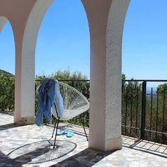 Our porch at Villa degli Armeni, private rental villa near Rome, Italy