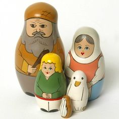 Jack and the Beanstalk Nesting Dolls