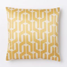 Silk Stacked Geo Pillow Cover - Horseradish | west elm  SALE $32
