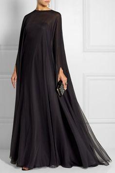 Draped silk-chiffon gown| YESSS!