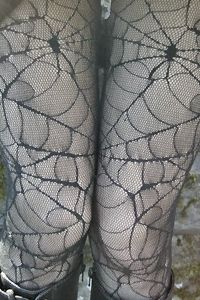 Covered in webs from your waist down to your toes, your legs will be spookily sexy in these spider inspired pantyhose.
