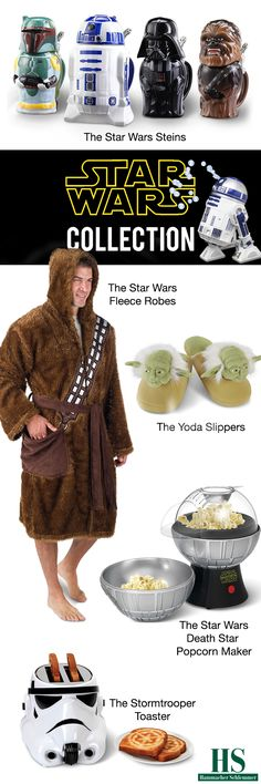 The Best, the Only, and the Unexpected Star Wars collection at Hammacher Schlemmer.