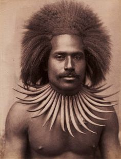 Cannibal: in century, Fijian Cannibal (Courtesy Fiji Museum) African Tribes, African Diaspora, Fiji People, Tongan Culture, Fiji Culture, Tribal People, Black History Facts, African Hairstyles, Black People