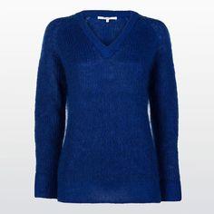 Mohair-blend V-neck pullover #XandresAW16 #Autumn #NewArrivals #FallCollection #AW16 #Xandres