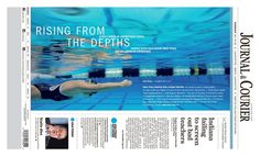 """""""Rising from the Depths"""" Lafayette Journal & Courier A1 designed by Andrew Scheiderich. (02.14.16) #newsdesign"""