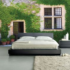 """Beautiful Ivy Wall Mural, Self-Adhesive Wall Covering, Peel And Stick Repositionable Wallpaper 12'1"""" x 8'4"""""""