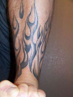 flame tattoos | LEG FLAMES tattoo
