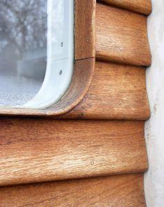 villa sørensen, nordre strandvej 53B, elsinore, denmark 1935. architect: arne jacobsen, 1902-1971. teak detailing of back door