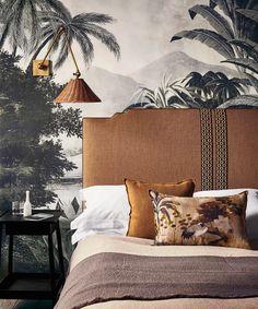 Home Bedroom, Bedroom Wall, Bedroom Decor, Bedroom Ideas, Master Bedrooms, Wall Decor, Indigo Bedroom, Ochre Bedroom, Country Cottage Bedroom