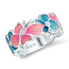 Fashion 925 Silver White Topaz Cocktail Women Ring Wedding Engagement Size 5-10