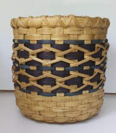 Round woven basket with wooden bottom. by WeaveUsTogether on Etsy, $50.00