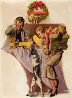 Rattie   oh boy, presents for ME! .. Illustrator Harold Anderson , http://decolossal.com/?p=23296