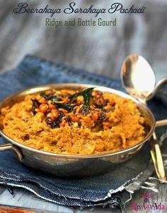 Beerakaya Sorakaya Pachadi | Whole (with Skin) Ridge and Bottle Gourd Pachadi