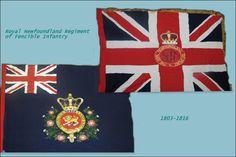 The Royal Newfoundland Regiment of Fencible Infantry 1803-1816- Regimental and KIng's Colours