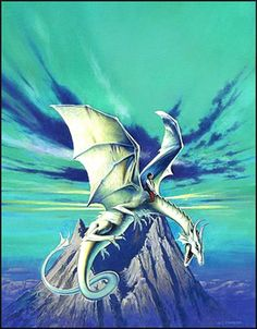 This is Les Edwards' take on the third volume in the original Dragonriders of Pern trilogy, the 22nd and later UK paperback printings of The White Dragon.