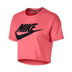 Nike Essential Crop T-Shirt - Women's - Clothing ($40) ❤ liked on Polyvore featuring nike