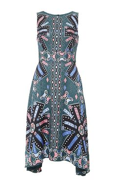 Silk Printed Sleeveless Midi Dress by PETER PILOTTO Now Available on Moda Operandi