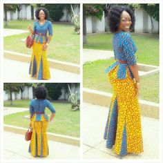 Ankara is so timeless that you can combine it perfectly with the right accessories for a glamorous look! In this Ankara fashion and style gallery, you will see how… African Dresses For Women, African Print Dresses, African Print Fashion, Africa Fashion, African Attire, African Wear, African Fashion Dresses, African Women, African Beauty