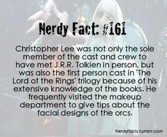 Click through and read the comments... Christopher Lee is all kinds of a badass