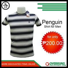 Shop our high-quality Penguin Casual t-Shirt for men at affordable prices. Discover our fashionable items in our large selection at OverrunsPhilippines. Shop now and get big discounts! Fashion Bazaar, Penguin T Shirt, Men's Shirts, Casual T Shirts, Penguins, Latest Trends, Shop Now, Comfy, Shopping