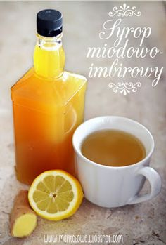 Kreatywna Mama czyli DIY po babsku: Syrop imbirowo-miodowy na przeziębienie i nie tylko Anti Inflammatory Drink, Inflammatory Foods, Fruit Recipes, Cooking Recipes, Healthy Recipes, Healthy Drinks, Healthy Eating, Polish Recipes, Gastronomia