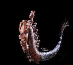 Batak Medicine Container 19.5 Horn 'Naga