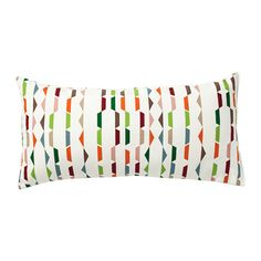IKEA PENNINGGRÄS Cushion Multicolour 30x60 cm The polyester filling holds its shape and gives your body soft support.