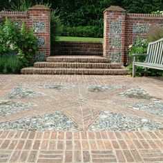 Slate Paving, Brick Paving, Outdoor Spaces, Outdoor Living, Outdoor Decor, Brick Garden, Garden Walls, Side Garden, Garden Projects