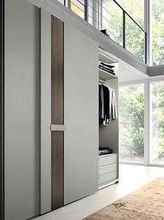 Sliding Door Wardrobe Designs, Wardrobe Design Bedroom, Bedroom Furniture Design, Wardrobe Doors, Closet Designs, Closet Bedroom, Hidden Doors In Walls, Home Room Design, House Design