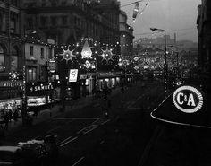 Christmas lights in Church Street 13th December 1968