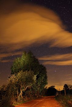 Stars, Clouds & Light Painting