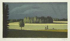Esa Riippa (Finnish, 1947-) > Jyrähdys 23 x 14 cm