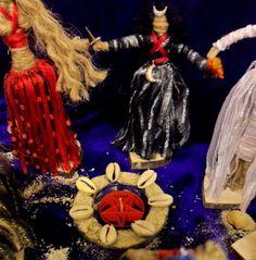 Hecate Jute Goddess doll handmade by Rowan Duxbury positivelypagan.com