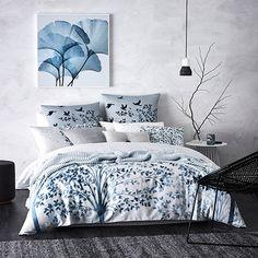 Koa Quilt Cover Set Blue