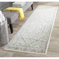 Safavieh Adirondack Ivory/ Silver Rug (2'6 x 8') | Overstock.com Shopping - The Best Deals on Runner Rugs
