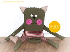 sewing cat toy for my mothers name day Yellow Pillows, Name Day, Cat Toys, Dyi, Mothers, Teddy Bear, Couture, Sewing, Cats